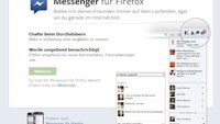 Facebook-Integration im Firefox-Browser
