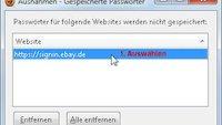 In Firefox gespeicherte Passwörter auslesen, löschen, ändern