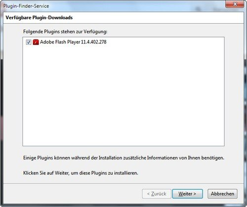 Flash Firefox Plugin installieren