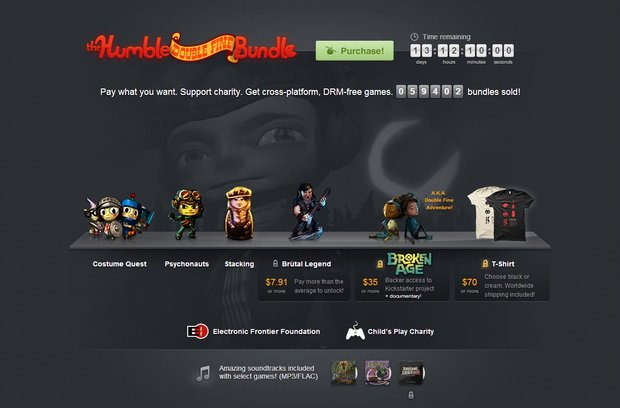 Humble Double Fine Bundle: Psychonauts, Stacking & Co. zum Sonderpreis
