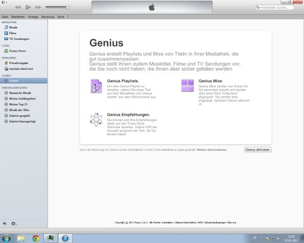 iTunes Genius Screenshot