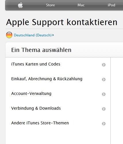 iTunes Fehler 8003 Screenshot