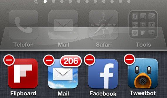 Reguläres Multitasking-Interface seit iOS 4
