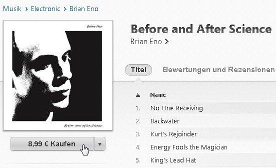 iTunes Album kaufen Screenshot