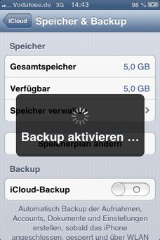 iTunes iPhone Backup Screenshot