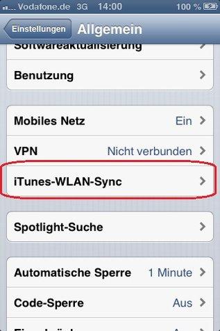 iTunes iPhone über WLAN verbinden Screenshot