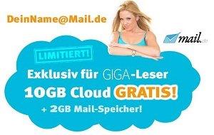 10GB Cloud gratis exklusiv für Giga-Leser