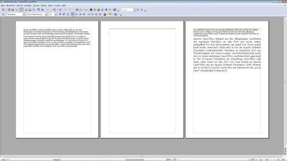 OpenOffice Seite einfügen