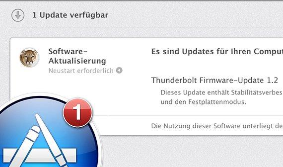 Thunderbolt-Update: Firmware-Version 1.2 verbessert Festplattenmodus