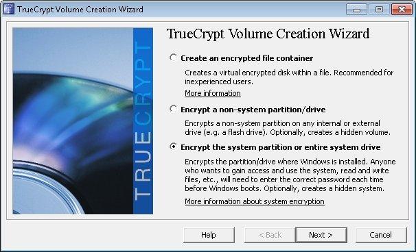 TrueCrypt Systermpartition Festplatte verschlüsseln
