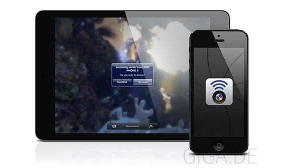 WiFi Camera: iPhone-Kamera mit anderem iOS-Gerät fernauslösen
