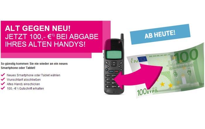 Telekom Aktion: 100 Euro für das alte Handy