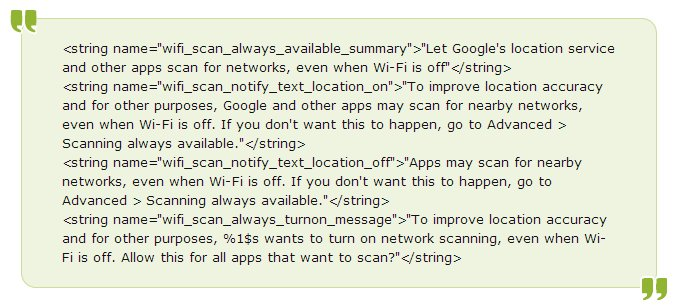 Android 4.3 WiFi