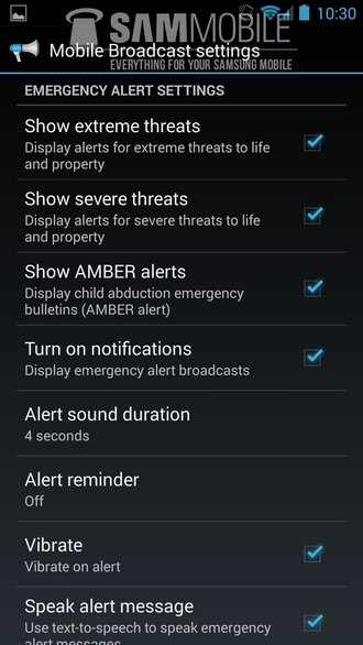 android 4.3 emergency settings