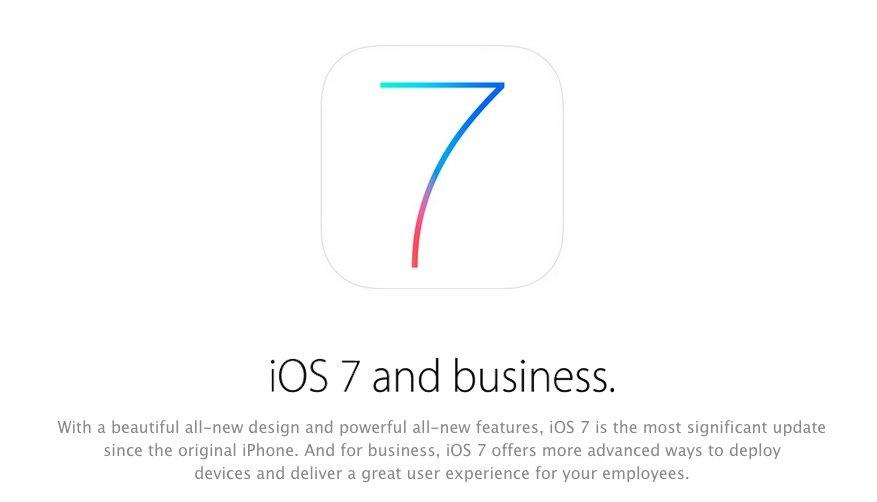 iOS 7: Apple bewirbt Business-Features auf eigener Seite