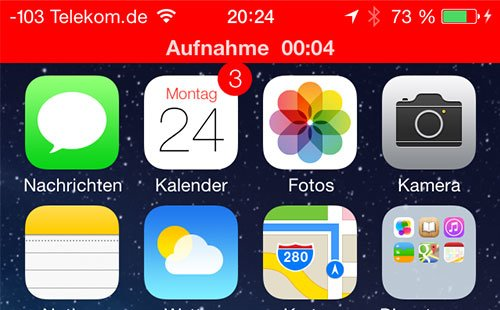 iOS 7 Beta 2 - Sprachmemo-Aufnahme