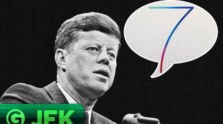 JFK: iOS 7? Dumme, flache Bonbons und mehr
