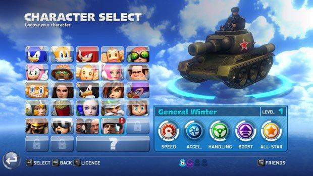 Sonic & All-Stars Racing Transformed: Bekommt neuen Charakter aus Company of Heroes