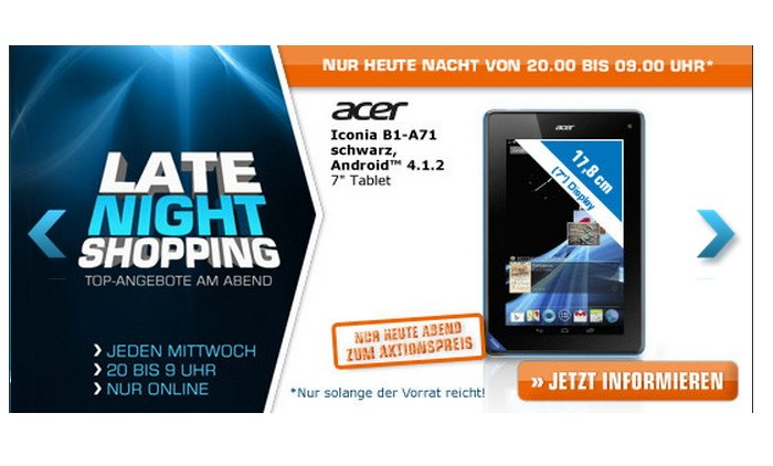 ACER Iconia B1Tablet bei Saturn im Angebot