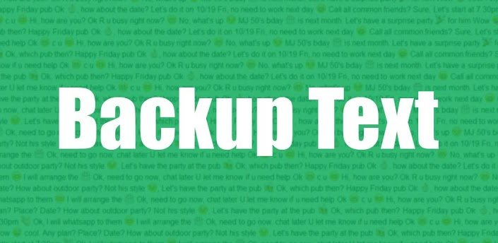 Backup Text for WhatsApp