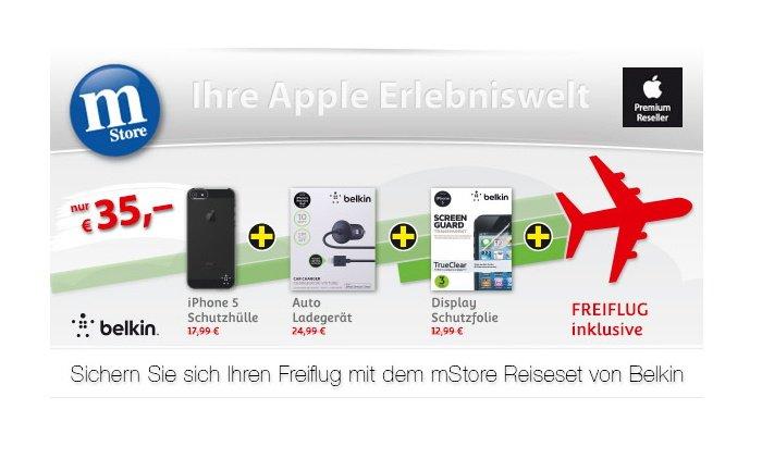 Reiseset für iPhone 5 oder iPad mini mit Gratisflug ab 35 Euro