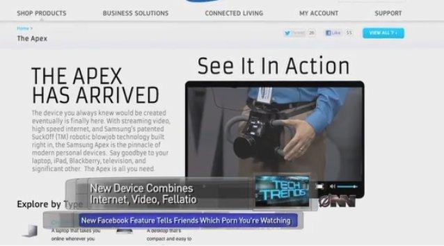 Samsung Apex: Eine Parodie, die unter die Gürtellinie geht