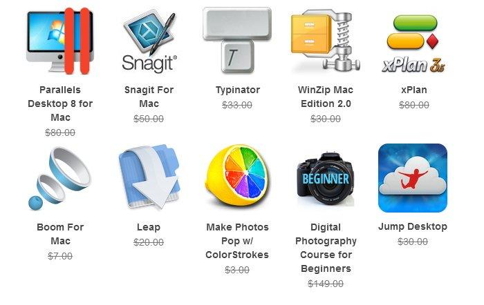 The Summer 2013 Mac Bundle mit Parallels Desktop 8 für ca. 39 Euro
