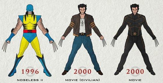 Wolverine: Vom gelben Latex bis zu Hugh Jackmans Brusthaar (Infografik)