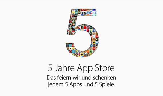 5 Jahre App Store: Gratis-Apps und Meilensteine