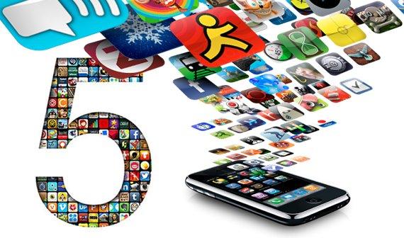 Grafiken: Die 20 meist genutzten iPhone-Apps und 5 Jahre App Store