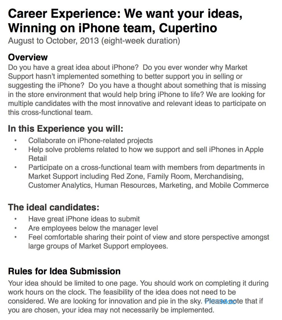 Apple Stores: Apple will Ideen von Mitarbeitern für iPhone-Verkauf