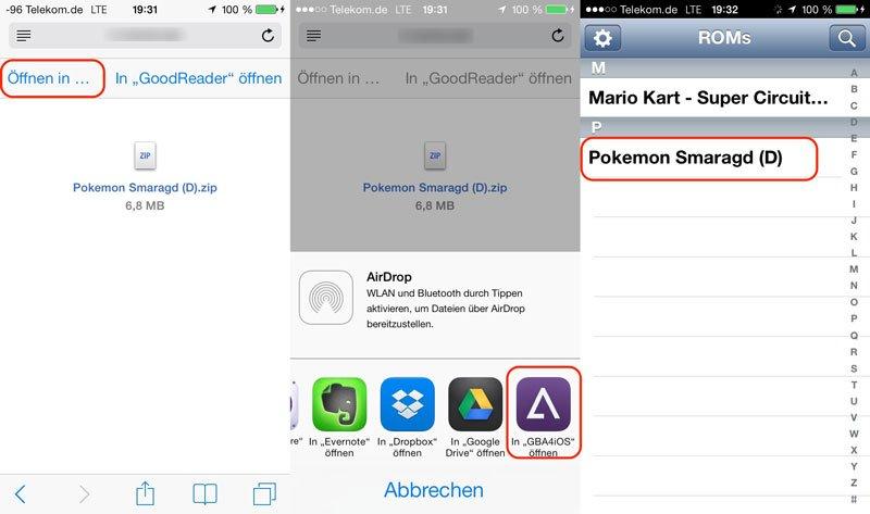 ROMs direkt auf dem iOS-Gerät installieren