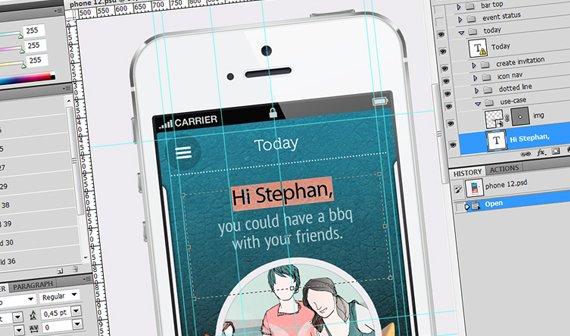 Peergion: So entsteht das Design einer App (Zeitraffer-Video)