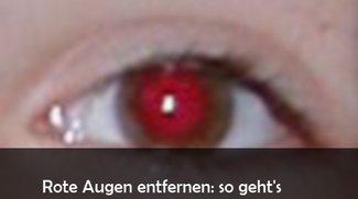 Rote Augen entfernen: So geht's mit kostenloser Freeware