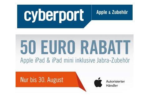 50 Euro Rabatt beim Kauf eines iPad mit Jabra-Zubehör bei Cyberport