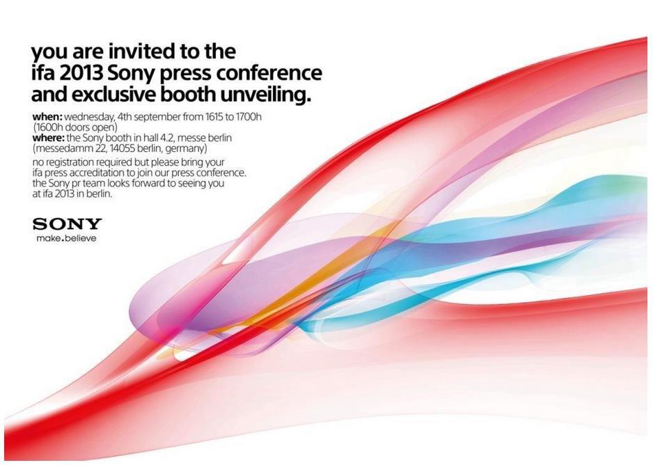 Sony Einladung