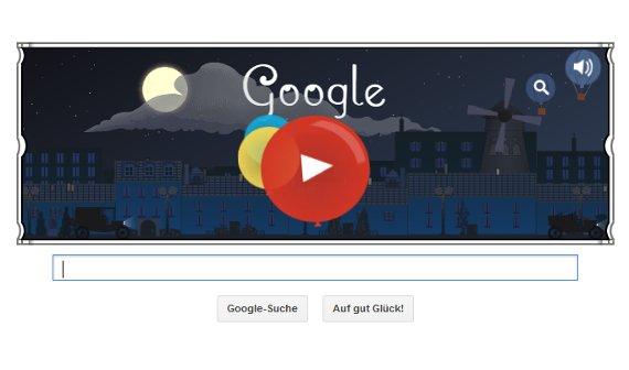 Google Doodle feiert Claude Debussys 151. Geburtstag