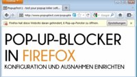 Popup-Blocker in Firefox konfigurieren: Störende Pop-ups loswerden