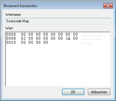 regedit scancode map