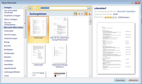 Permalink to Den perfekten Tabellarischen Lebenslauf erstellen: Vorlage aus Word benutzen u2013 GIGA
