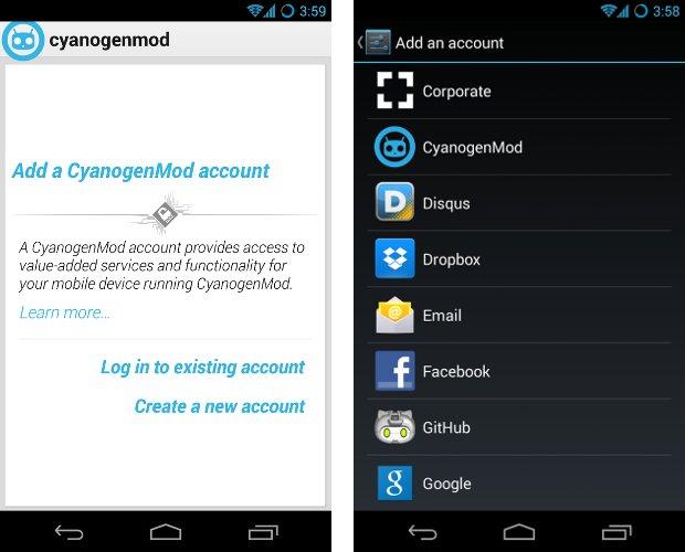 CyanogenMod Account