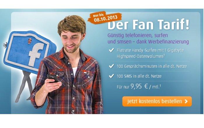 Netzclub: 1 GB Datenvolumen mit 100 Minuten & 100 SMS für 9,95 Euro pro Monat