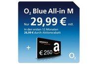 02 Blue All-in M Vertrag mit 250 Euro Gutschein von Amazon
