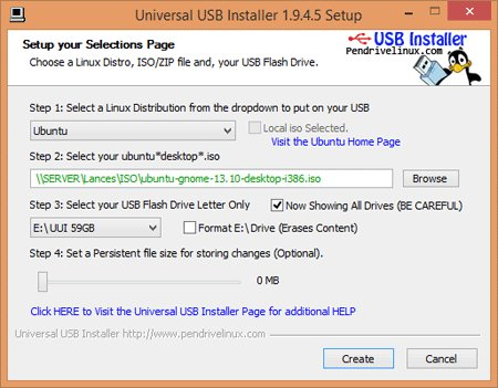 Universal USB Installer Linux