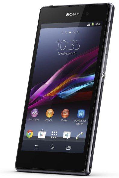 Sony Xperia Z1 - ordentlich die Finger drauf!