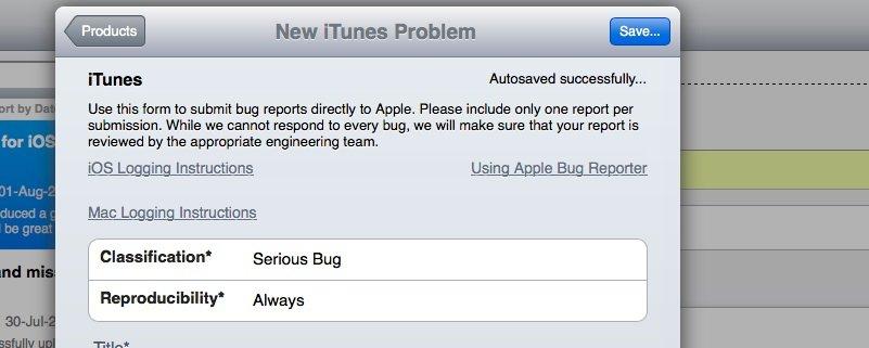 Apple: Neues Bug-Reporting-Tool erleichtert Melden von Fehlern