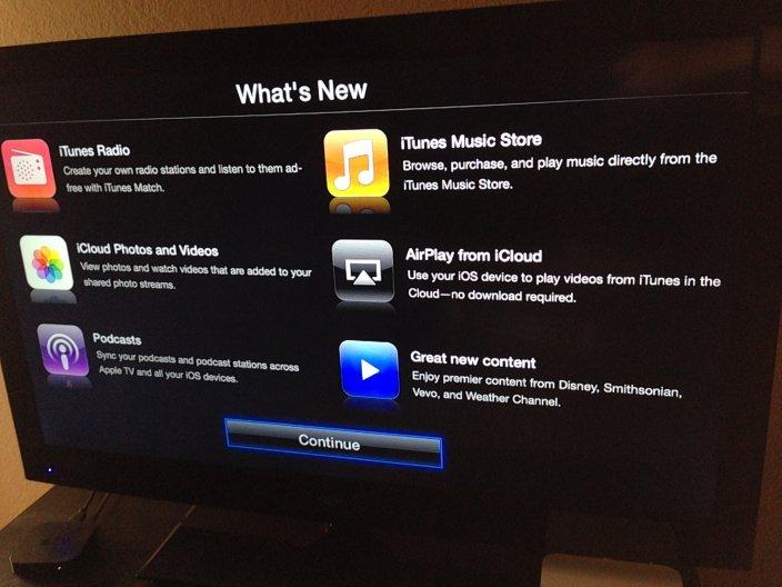 Apple TV: Software-Update 6.0 bringt iTunes Radio und AirPlay aus der iCloud