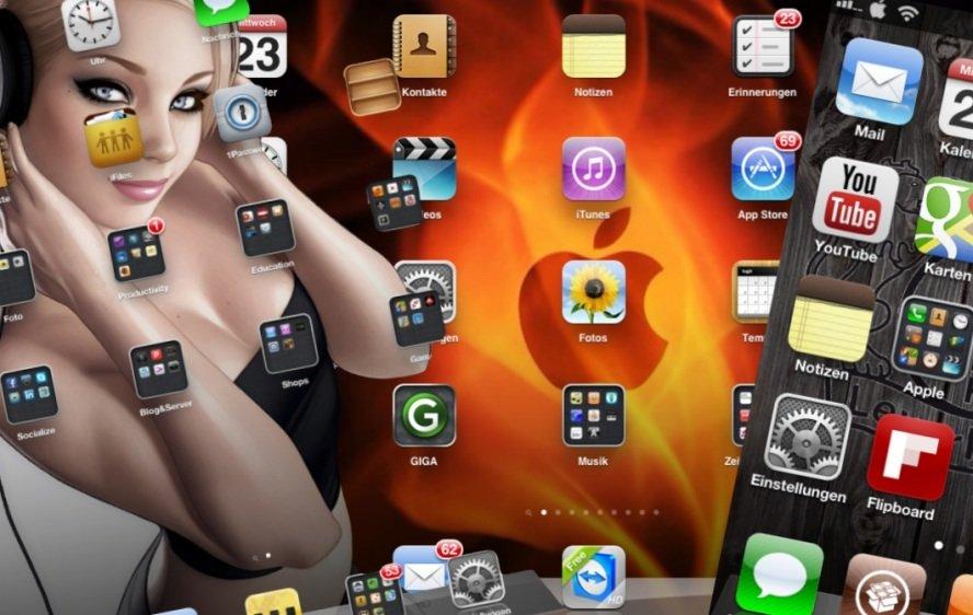 iOS 6 Homescreen: So schauts aus, bei Hempels unterm Bett (Betthupferl)