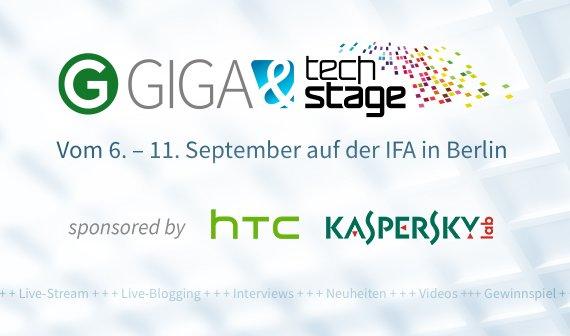 GIGA auf der IFA 2013: Zwei Tage LIVE-Show und mehr