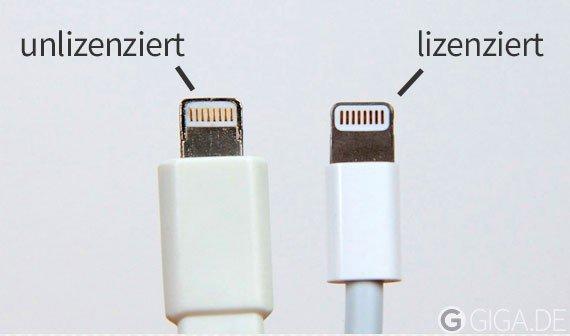 iOS 7 blockiert unlizenziertes Lightning-Zubehör